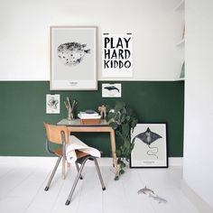 K I D S R O O M // Beau loves the new prints in his room #oceancollection #playhardkiddo #kidsroom #kidscollection #aw15mydeerartshop All prints available at #mydeerartshop. Link in bio. #mydeerkidsroom