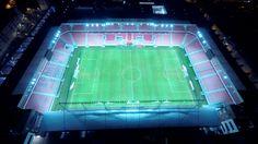 Night drone / aerial photo of brand new football / soccer stadium in Trnava, Slovakia - Arena Football, Football Soccer, Soccer Stadium, Night Shot, Aerial Drone, Dji Phantom, Gopro, City, Cities