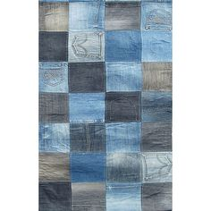 Special Offers Available Click Image Above: Blue Jean Patchwork Rug