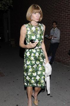 Anna Wintour New York City 2012
