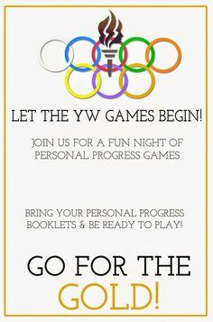{Personal Progress} YW Personal Progress Olympics: Game Night from Little LDS Ideas