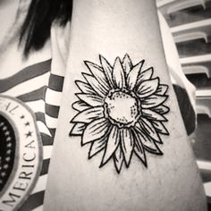 Sunflower tattoo. #5 for me and it looks GREAT!