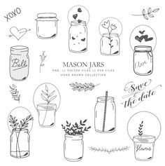 Need a cute mason jar vectors for your next project? This