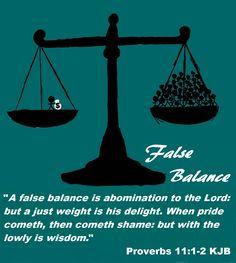 Proverbs 11:1-2 KJB