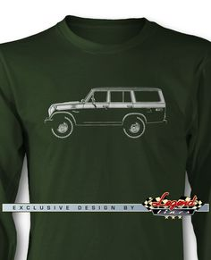 Toyota FJ55 BJ55 Land Cruiser 4x4 - Lights of Art Long Sleeves T-Shirt - A game of subtle lights and shadows reveal the magnificent curves of the body of this Legendary Coupe. Detailed and harmonious, the illustration has grabbed the essence of one of the most influential vehicle of the 20th century. A true Legend that lives forever: the Toyota FJ55 BJ55 Land Cruiser 4x4 Long Sleeves T-Shirt!