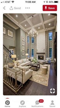 Living Room Decor High Ceilings Ceiling Decorating Gold