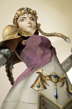 This Incredibly Detailed Zelda Visage is Made Entirely Out of Paper #DIY #paperproducts trendhunter.com