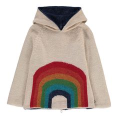 The final discounts are live on Smallable! Up to 60% off on hundreds of beautiful brands like Rylee +Cru, Emile et Ida, Bobo Choses, Numero 74… Oeuf NYC Rainbow Alpaca Wool Baby Burnous Girls. Toddlers. Childrenswear. Fashion. Winter. Outfits. Clothes. Smallable