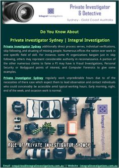 Choose the right private investigator for your investigation? How you choose right and professional investigator? Meet our experienced private investigator Sydney.