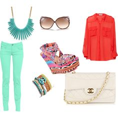 Color blocking, created by nicole-angela-perez on Polyvore