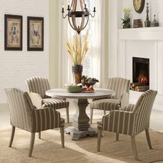TRIBECCA HOME Kylie Rustic Birch 5-piece Traditional Euro Dining Set