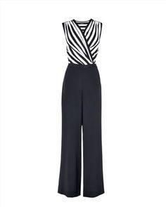 #PANDORAloves Monochrome Stripe Jumpsuits…cute but you have to get undressed every time you have to use the restroom