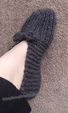 Granny's Old Fashioned Knitted Slippers - Everything Coralie