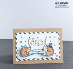 Sweet Stamp Shop - Hedgehog Kisses #sweetstampshop #card Buy Sweet Stamp Shop stamps in Australia at www.dawnlewis.com.au