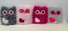 Valentines Gift. Owl With Love Heart. Soft Owl. by CraftyJoes