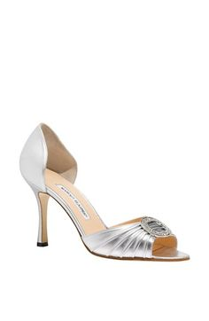 Manolo Blahnik 'Sedaraby' Open Toe d'Orsay Pump (Women) available at #Nordstrom