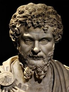 Septimius Severus (close-up). Marble. Ca. 200 CE. Inv. No. I 181. Vienna, Museum of Art History. (Photo by I. Sh.).
