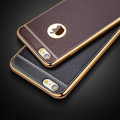Luxury Ultra Slim Leather Pattern Phone Case For iPhone 5 5S SE 6 6S / Plus Plating Soft TPU Silicone Back Cover for iphone 6 6S | iPhone Covers Online