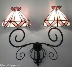 This lamp was commissioned by Estee in Ladysmith to hang in her passage. This lamp was commissioned by a lovely lady who wanted to give. Stained Glass Lamps, Lamp Shades, Sconces, Wall Lights, Table Lamp, Lighting, Home Decor, Crystals, Lampshades