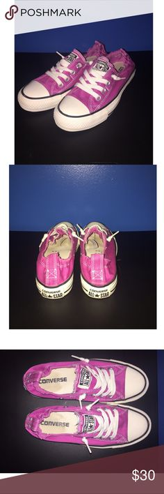 Pink converse shoes Pink converse shoes that have only been worn a couple times Converse Shoes Sneakers