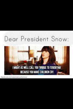 Dear President Snow: