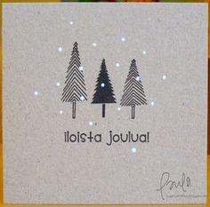 by Paula - Pammun P*skartelut: Pinspiraatiota Christmas Cards To Make, Xmas Cards, Diy Cards, Christmas Crafts, Christmas Decorations, Christmas Makes, Christmas Mood, Creative Cards, Christmas Inspiration