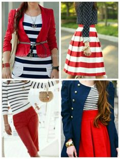 My favourite colour combinations - sailor style