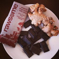 Mm groovy ginger Rawsome Foods chocolate. This #chocolate has bite but isn't overpowering at all - so good! #raw #organic #glutenfree #dairyfree #ginger #healthy #healthfood #coconutoil #cacao