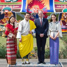 The British royal couple finally met the 'William and Kate of the Himalays' Queen Jetsun Pem and King Jigme Khesar Namgyal Wangchuck during a ceremonial welcome and audience at TashichhoDZong.