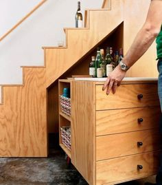 ugly kitchen cabinets a bar the stairs in the basement a great use of 3001