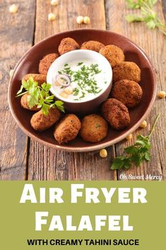 Crispy-outside, soft-and-tender inside, these Air Fryer Falafel are amazing! A THM E, these air fried balls of goodness hit the spot without damaging your waistline! Lentil Recipes, Thm Recipes, Healthy Recipes, Indian Food Recipes, Real Food Recipes, Yummy Food, Protein Plus, Air Frier Recipes, Wafer Thin