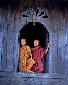 Young monks near Inle Lake, Burma // photo by Jim Zuckerman