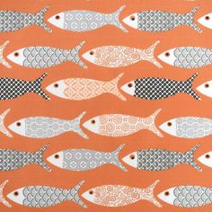Tissu coton épais poissons corail   - Mondial Tissus