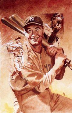 Lou Gehrig Painting - Ken Meyer Jr. http://fineartamerica.com/profiles/ken-meyer-jr.html