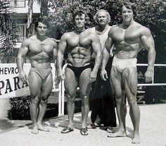 Arnold Schwarzenegger with Franco.