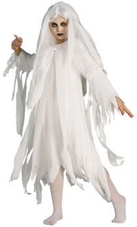 girl ghost costume for haunted mansion party theme