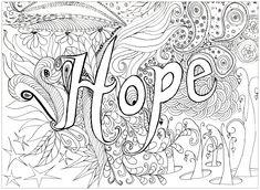 coloriage-adulte-hope A partir de la galerie : Calendrier De Lavent 2016
