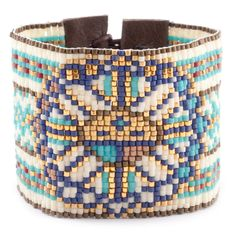 Chan Luu - Turquoise Mix Tribal Cuff Bracelet, $345.00 (http://www.chanluu.com/bracelets/turquoise-mix-tribal-cuff-bracelet/)