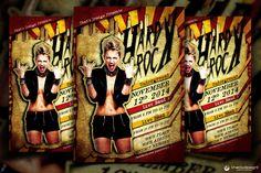 Hard Rock Underground Flyer Template by ThatsDesignStore on Creative Market