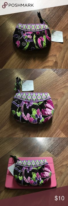 Sweetheart Pouch in Purple PUNCH Limited edition.  Only available with purchase.  Never sold individually by Vera Bradley.  New with tags.  iPad mini shown for size only. Would say this is probably best as a coin purse/ tampon holder / be creative! Vera Bradley Bags Wallets