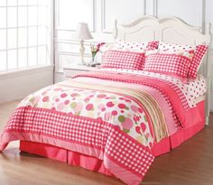 Chezmoi Collection 8-piece Soft Pink White Green Polka Dot Plaid Duvet Cover with Sheet Set Queen Chezmoi Collection,http://www.amazon.com/dp/B00ASOAFKI/ref=cm_sw_r_pi_dp_GUTmtb1BE6E97K1H