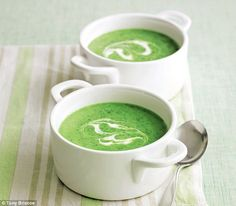 Mary Berry's favourites - with a modern twist                                     http://www.dailymail.co.uk/home/you/article-3139222/Mary-Berry-Watercress-soup.html