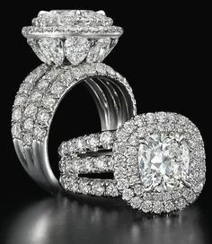 Idée et inspiration Bague Diamant : Image Description Charles Elliott Krypell diamond ring. – Style Estate –