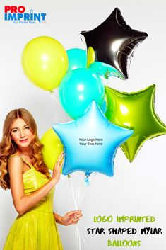 Brand yourself like a rockstar! Proimprint has a wide range of promotional logo balloons that will make your brand stand out. Custom Balloons, Mylar Balloons, Balloon Logo, Holiday Messages, Brand Promotion, Star Shape, Brand You, Holiday Gifts, Range