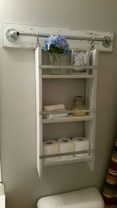 Wooden Above Toilet Shelf Organizer #homedecorideas