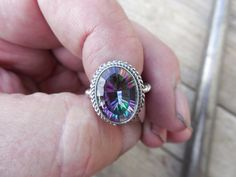 Special order for Bird46131...Mystic topaz ring handmade in sterling silver on Etsy, Sold