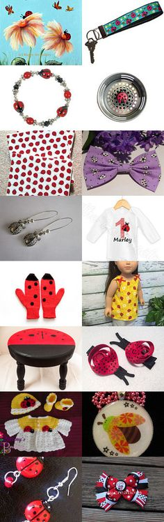 More Lovely Ladybugs by Julie and Kate on Etsy--Pinned+with+TreasuryPin.com