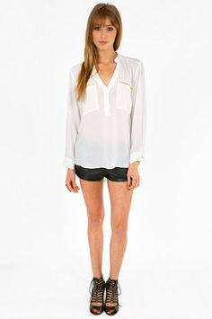 white zippered top