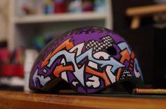 Skate Helmet by alison arts