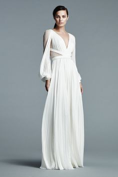J. Mendel's ethereal Grecian number proves long sleeves can look incredibly sexy.